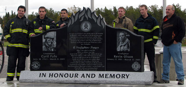 Memorial for fallen Fire Fighters, Yellowknife NT